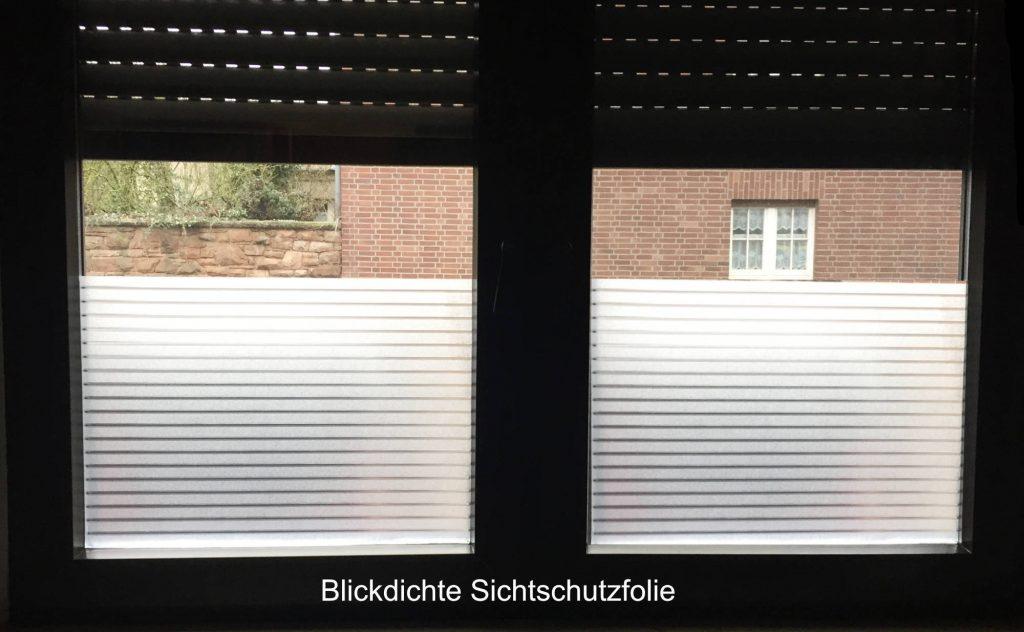 Sichtschutrzfolien Fenster
