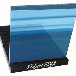 Spiegelfolie blau