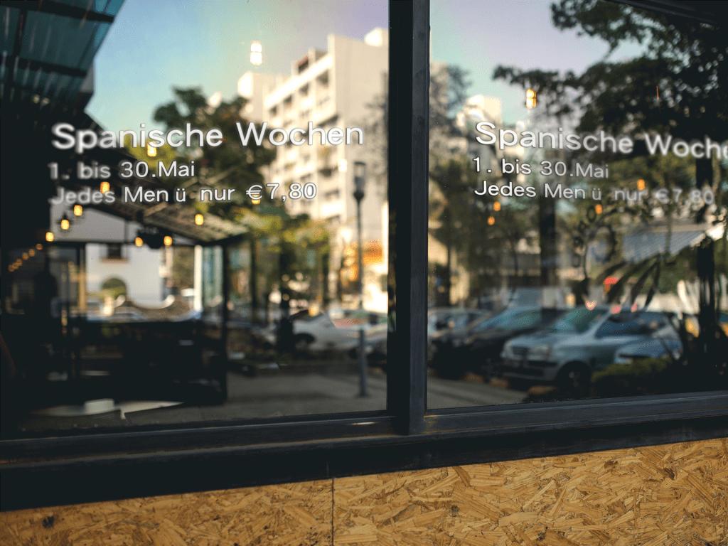 Schaufensterwerbung